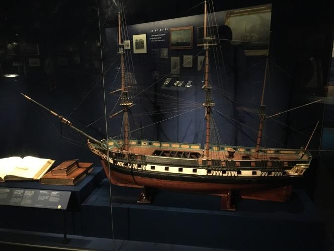 a second model ship