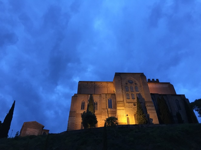 church against cloud backdrop