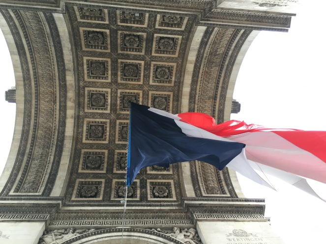 french flag flying